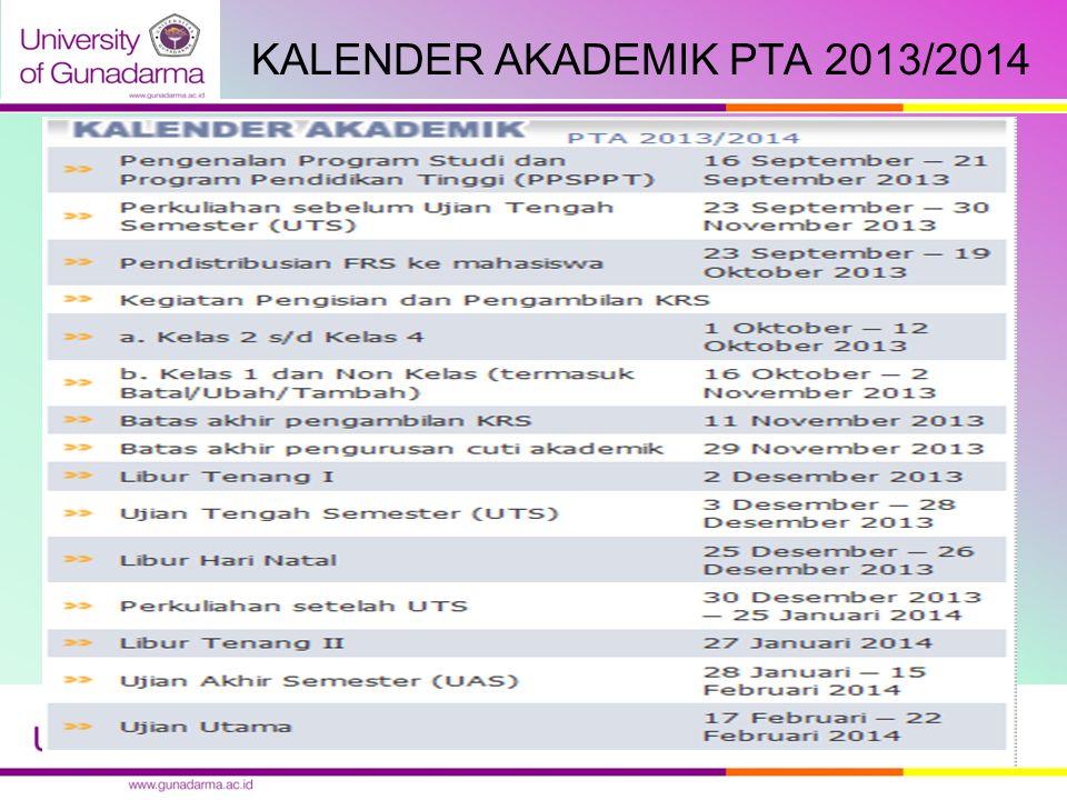 KALENDER AKADEMIK PTA 2013/2014