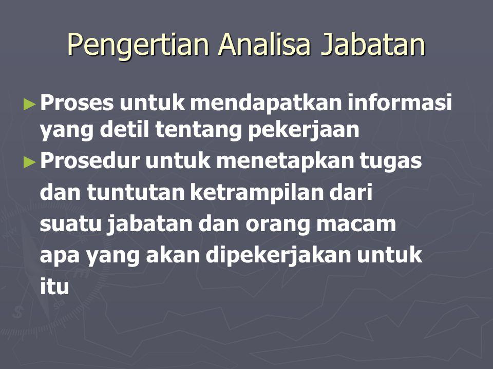 Pengertian Analisa Jabatan