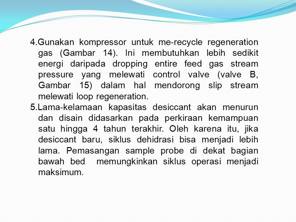 4. Gunakan kompressor untuk me-recycle regeneration gas (Gambar 14)