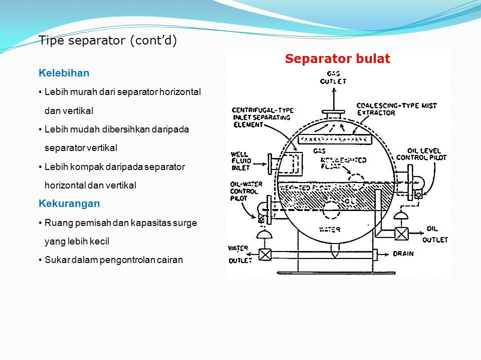 Tipe separator (cont'd)