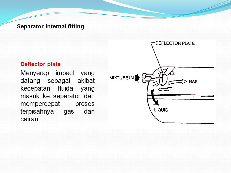 Separator internal fitting