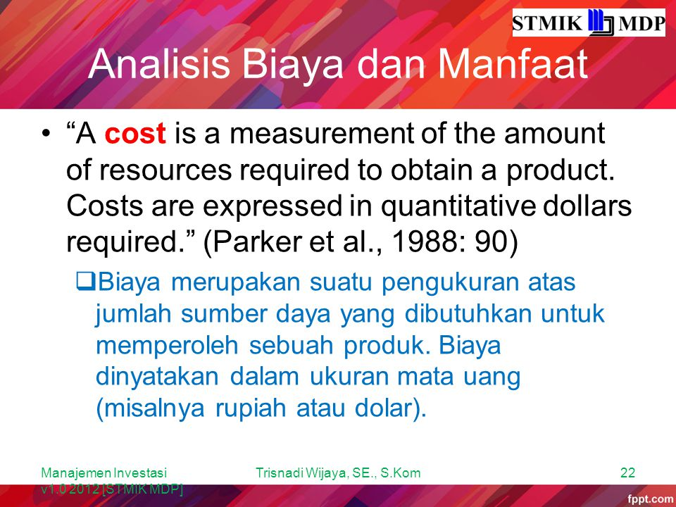 Analisis Biaya dan Manfaat