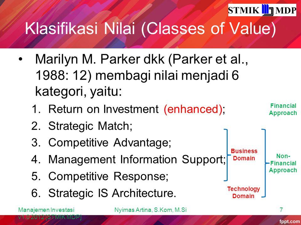 Klasifikasi Nilai (Classes of Value)
