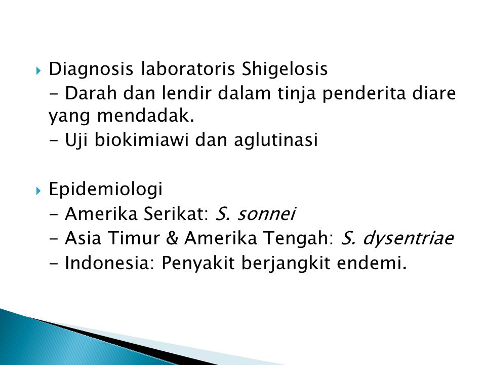 Diagnosis laboratoris Shigelosis