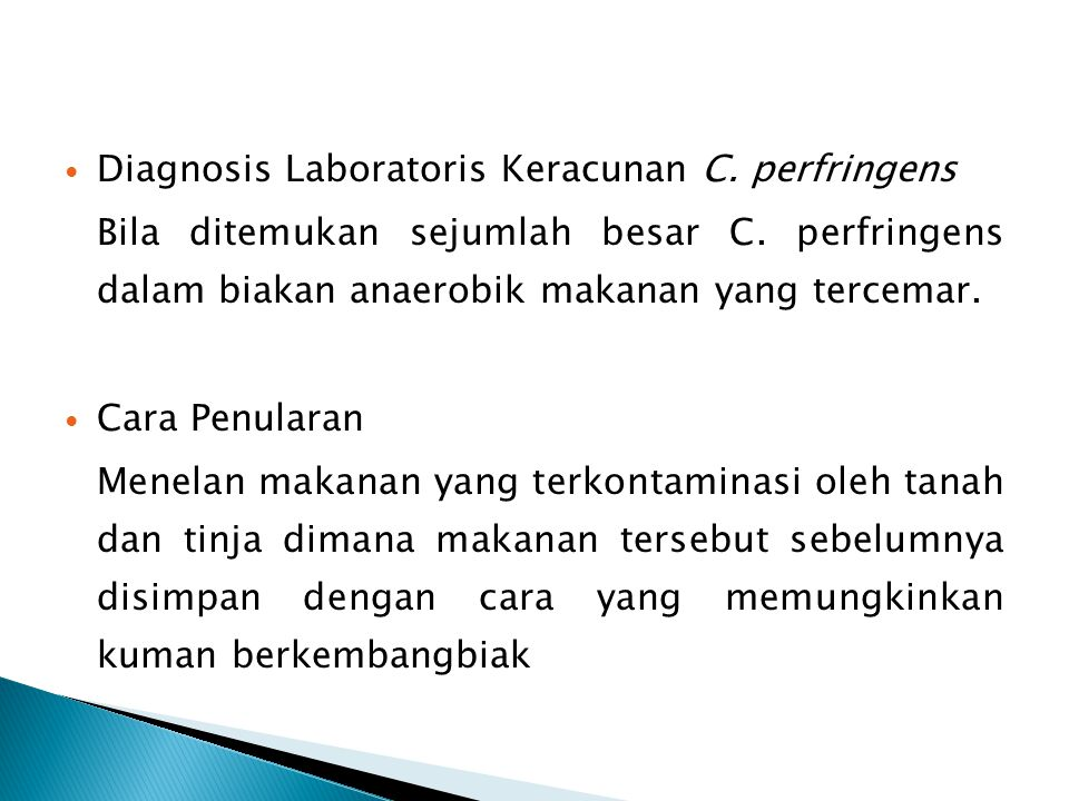 Diagnosis Laboratoris Keracunan C. perfringens