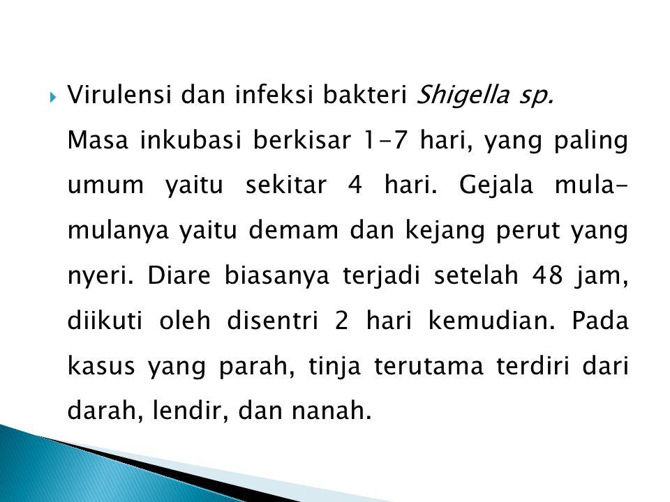 Virulensi dan infeksi bakteri Shigella sp.
