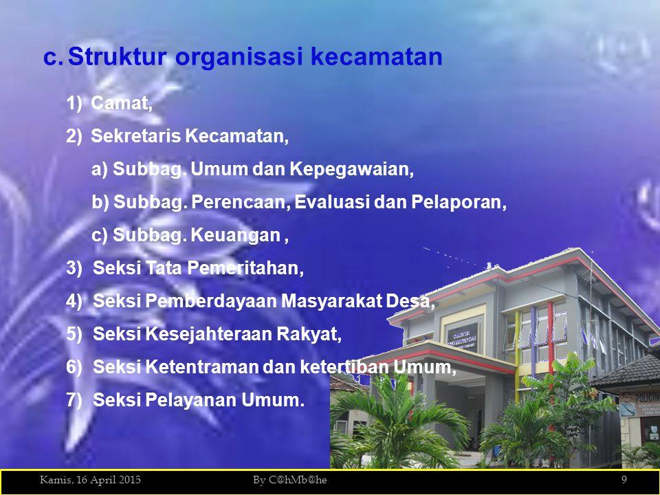 Struktur organisasi kecamatan
