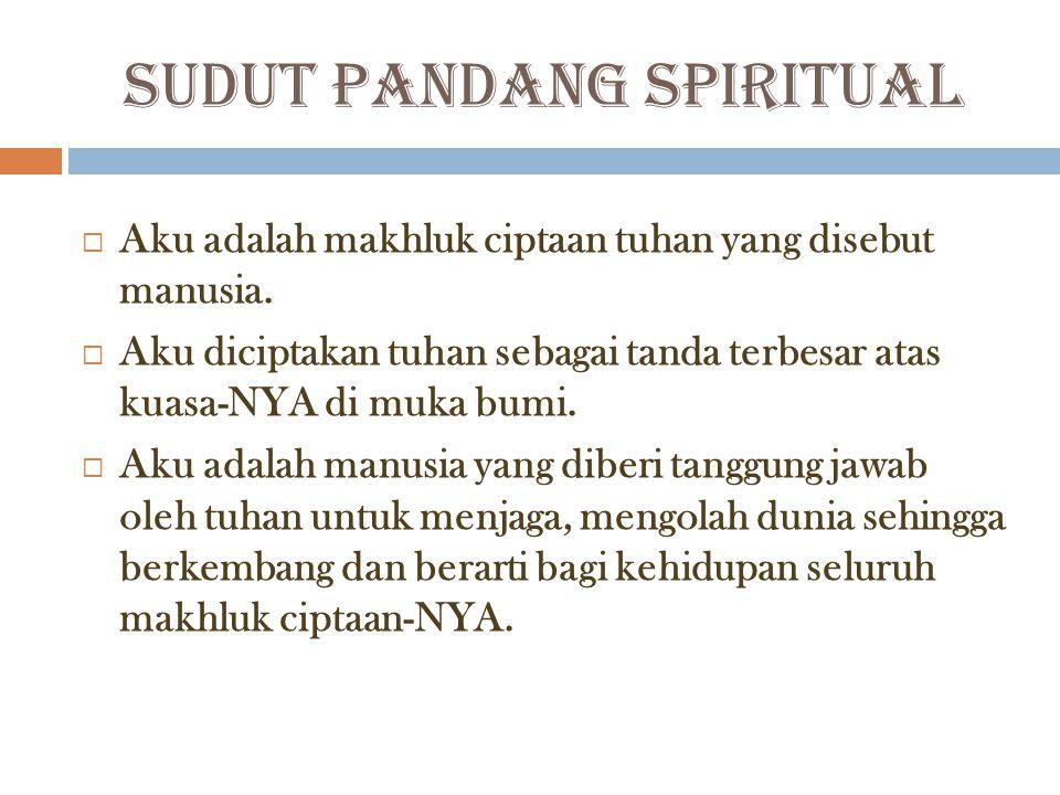 SUDUT PANDANG SPIRITUAL