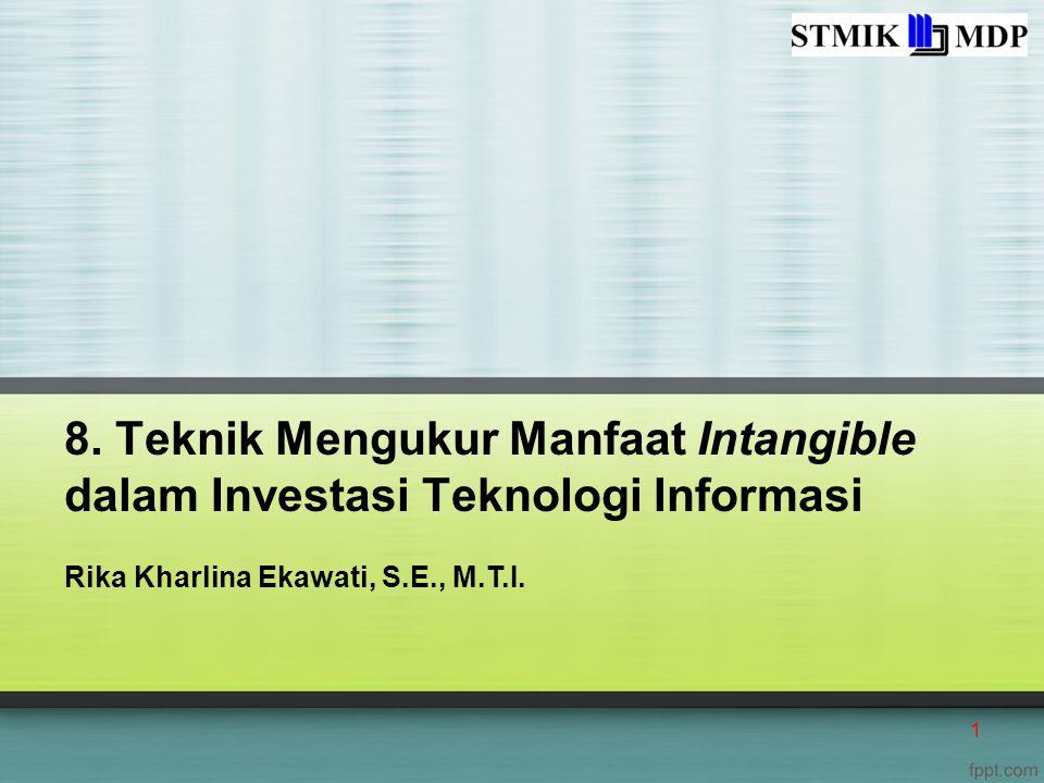 8. Teknik Mengukur Manfaat Intangible dalam Investasi Teknologi Informasi
