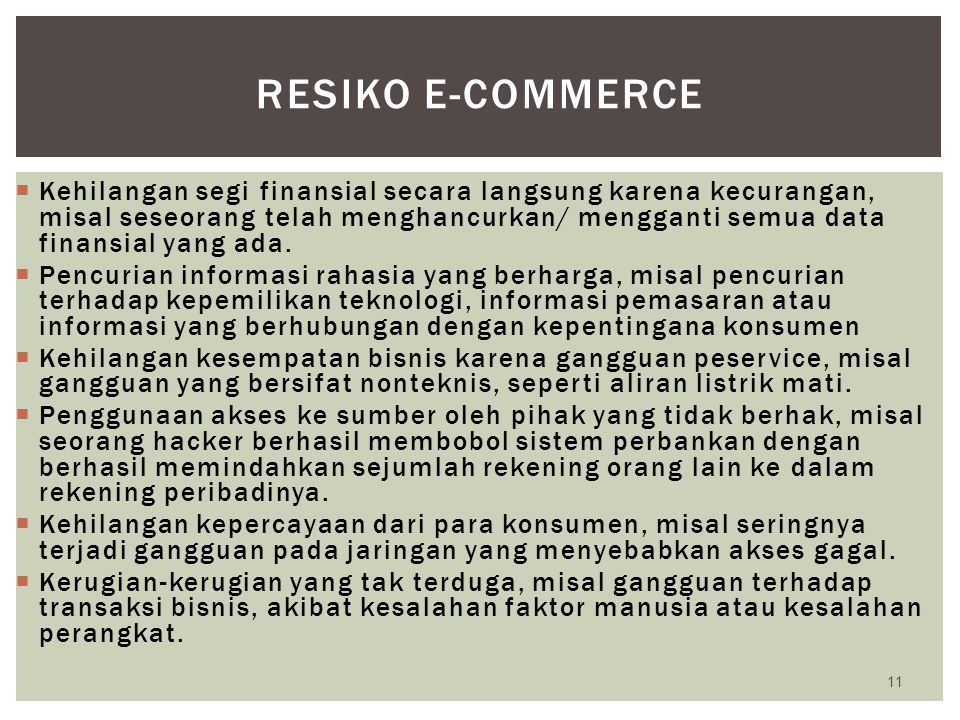 Resiko e-commerce