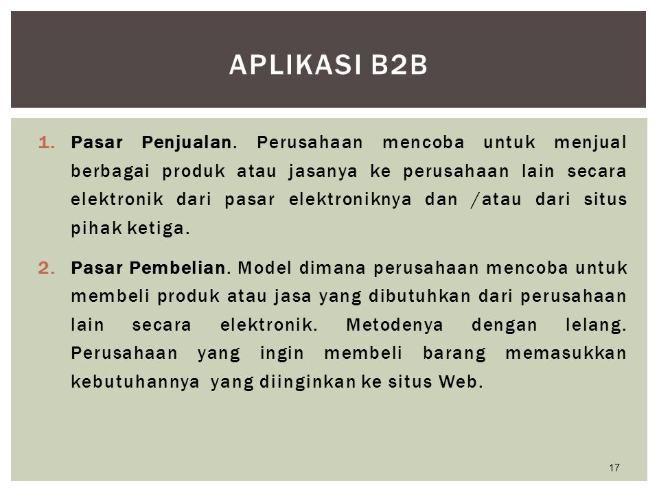 Aplikasi B2B