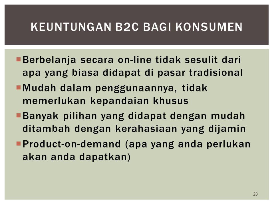 Keuntungan b2c bagi konsumen