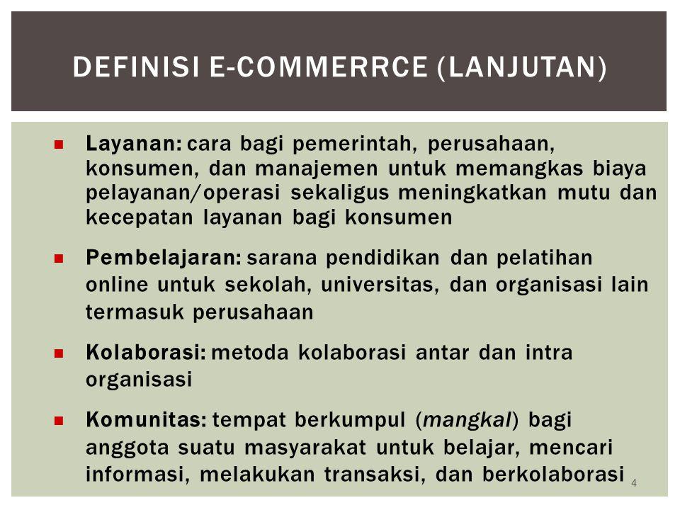 Definisi e-commerrce (lanjutan)