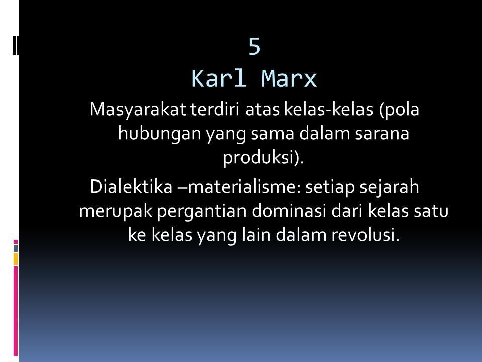 5 Karl Marx