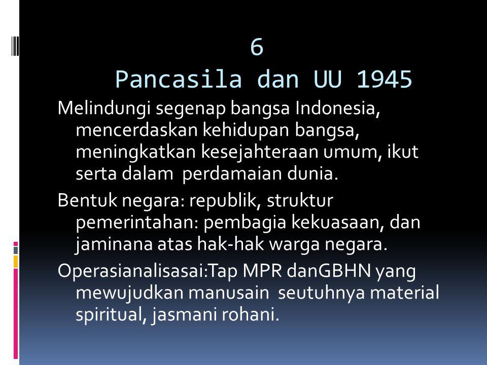 6 Pancasila dan UU 1945