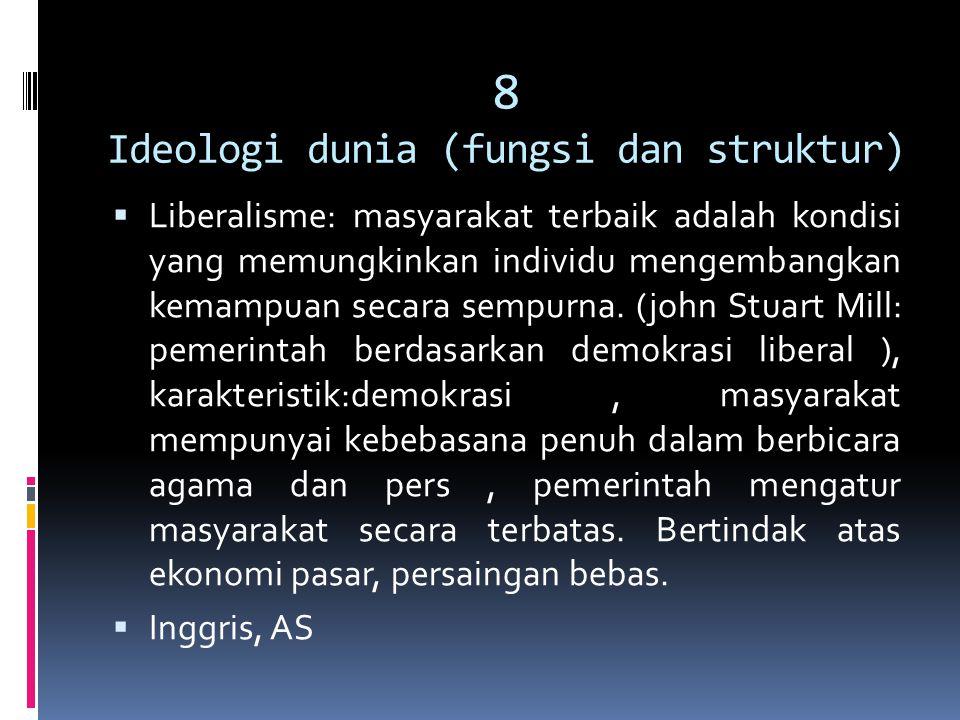 8 Ideologi dunia (fungsi dan struktur)