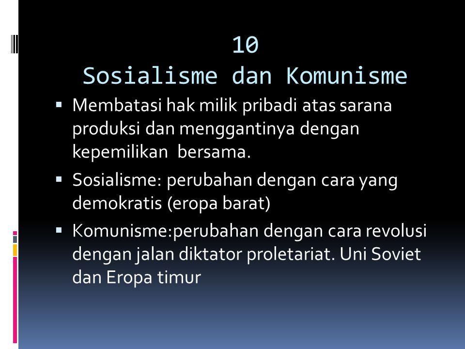 10 Sosialisme dan Komunisme