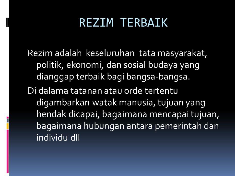 REZIM TERBAIK