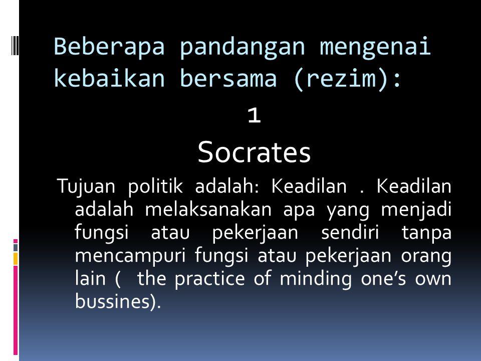 Beberapa pandangan mengenai kebaikan bersama (rezim):
