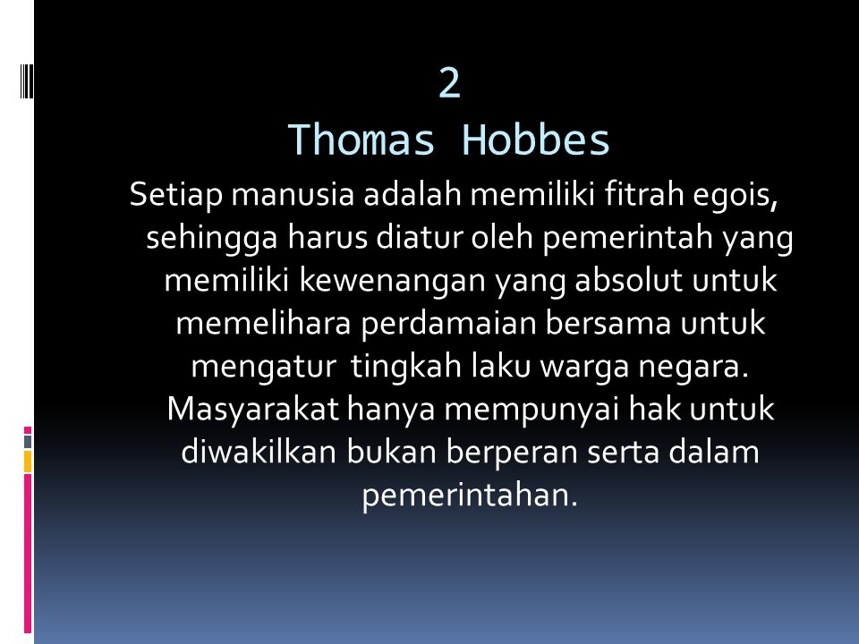 2 Thomas Hobbes