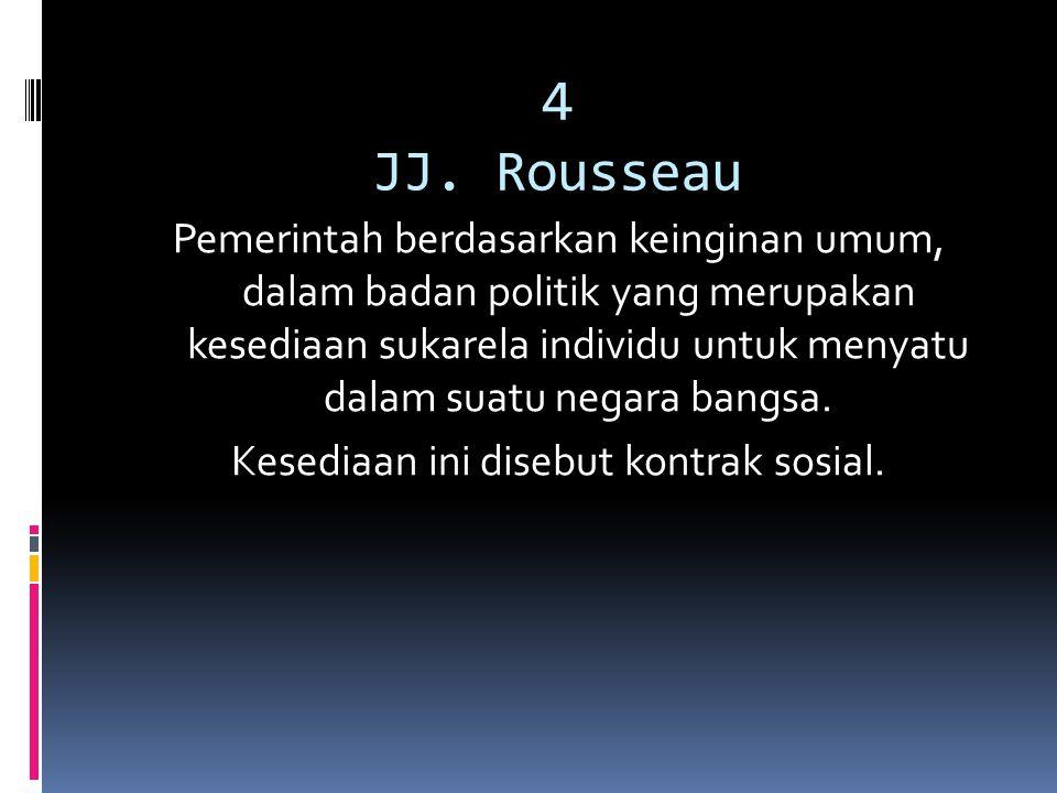 4 JJ. Rousseau
