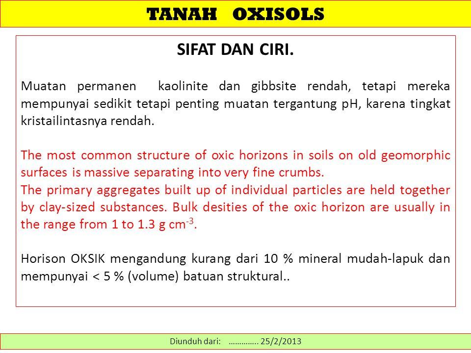 TANAH OXISOLS SIFAT DAN CIRI.