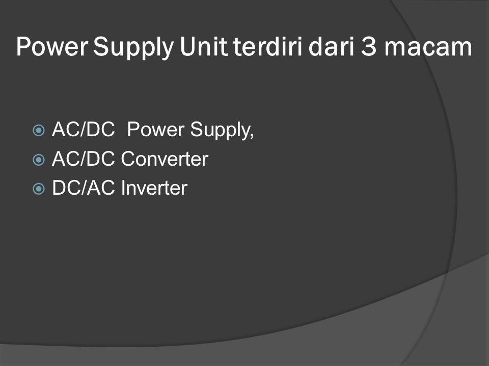 Power Supply Unit terdiri dari 3 macam