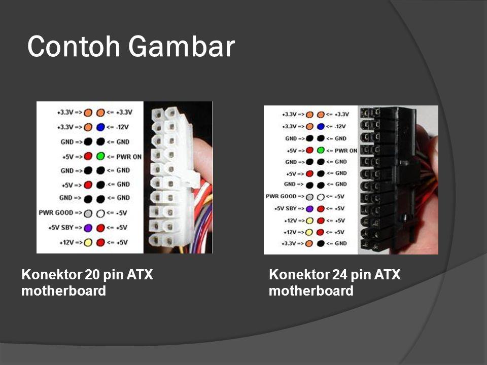 Contoh Gambar Konektor 20 pin ATX motherboard