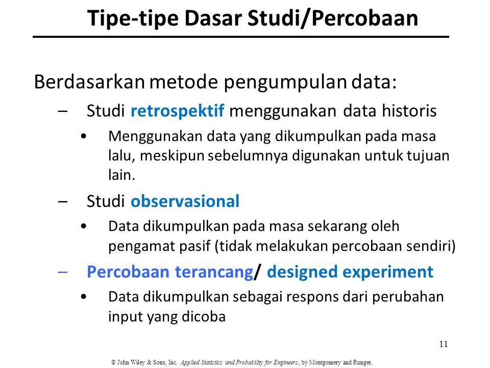 Tipe-tipe Dasar Studi/Percobaan