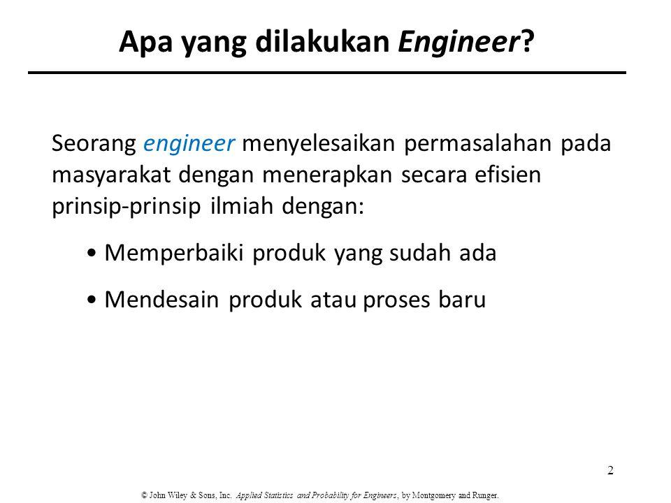 Apa yang dilakukan Engineer
