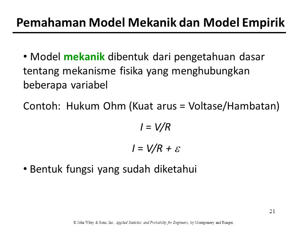 Pemahaman Model Mekanik dan Model Empirik