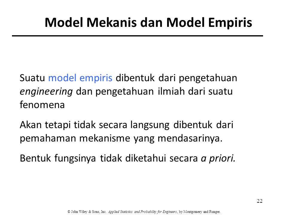 Model Mekanis dan Model Empiris