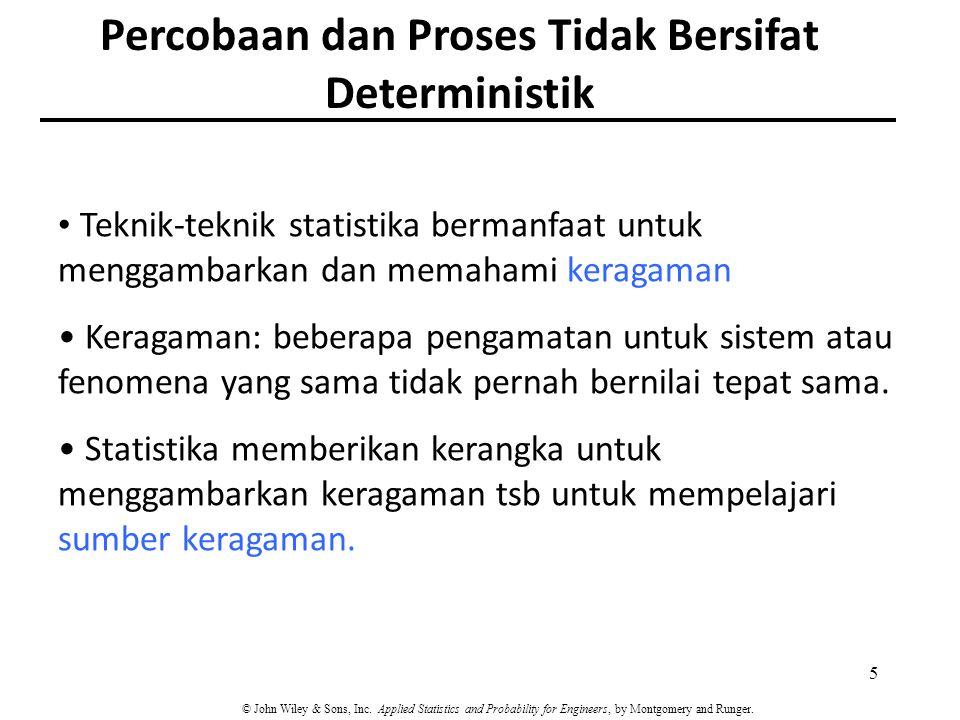 Percobaan dan Proses Tidak Bersifat Deterministik