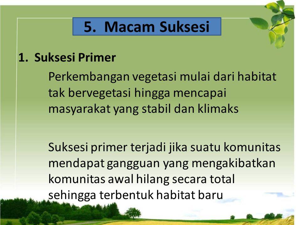 5. Macam Suksesi