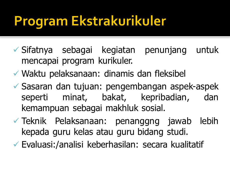 Program Ekstrakurikuler