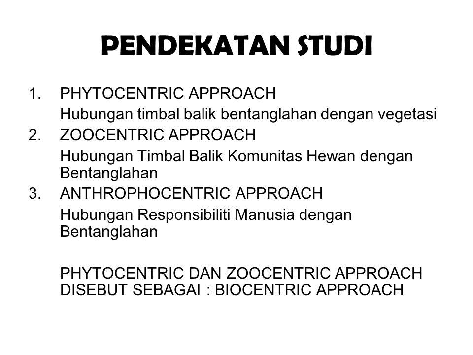 PENDEKATAN STUDI PHYTOCENTRIC APPROACH