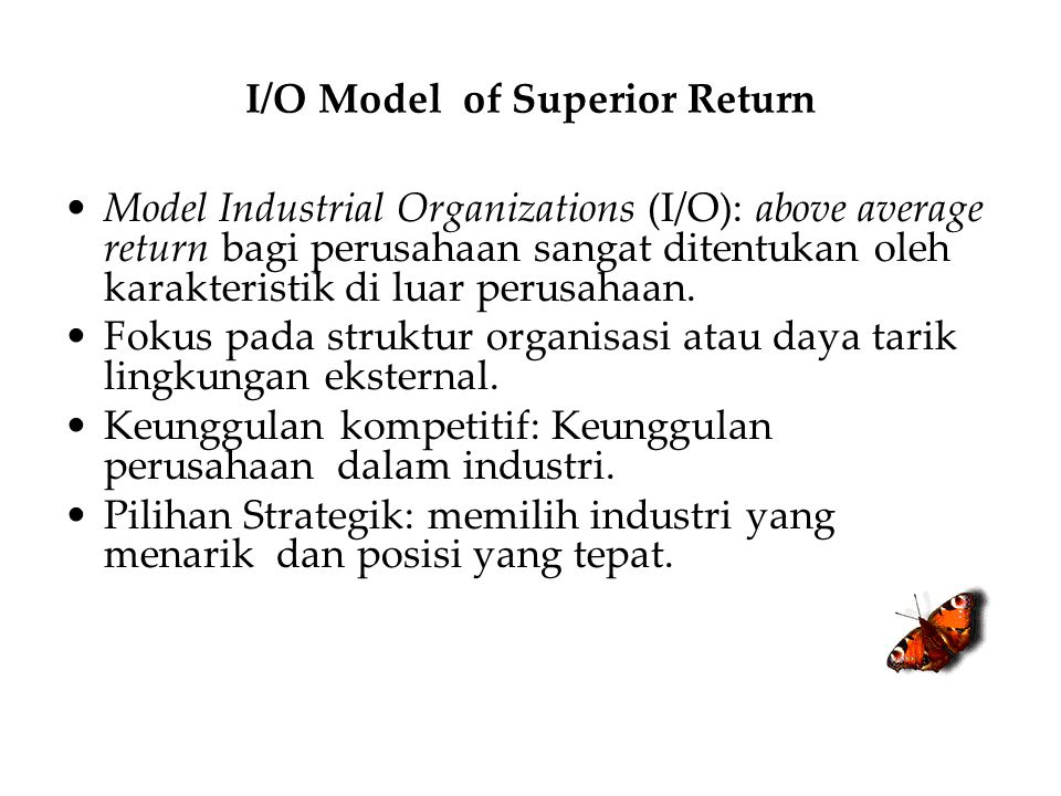 I/O Model of Superior Return