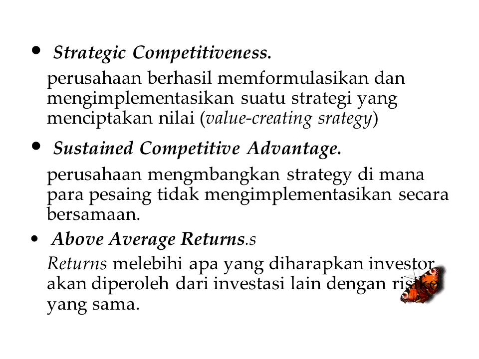 Strategic Competitiveness.