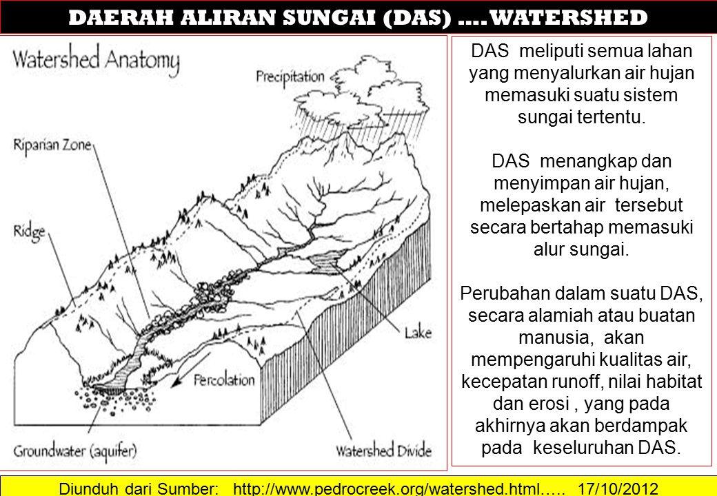 DAERAH ALIRAN SUNGAI (DAS) …. WATERSHED