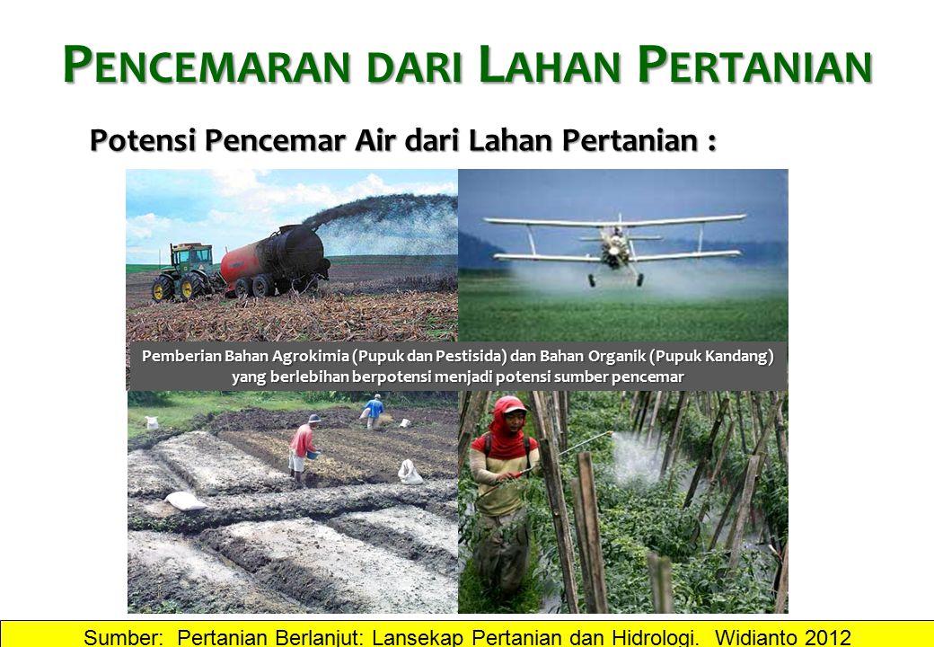 Pencemaran dari Lahan Pertanian