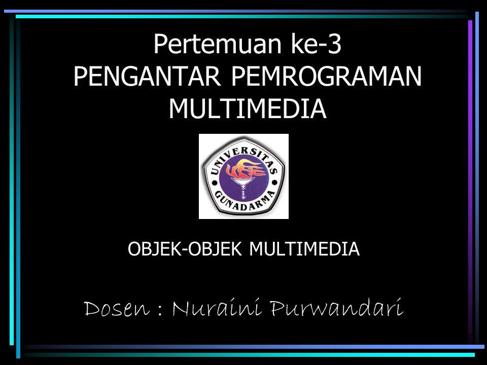 Pertemuan ke-3 PENGANTAR PEMROGRAMAN MULTIMEDIA