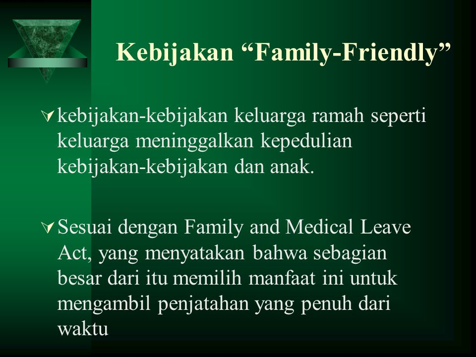 Kebijakan Family-Friendly