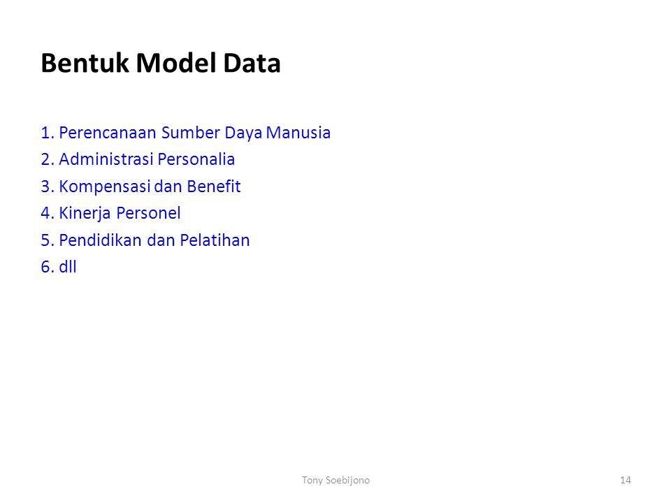 Bentuk Model Data