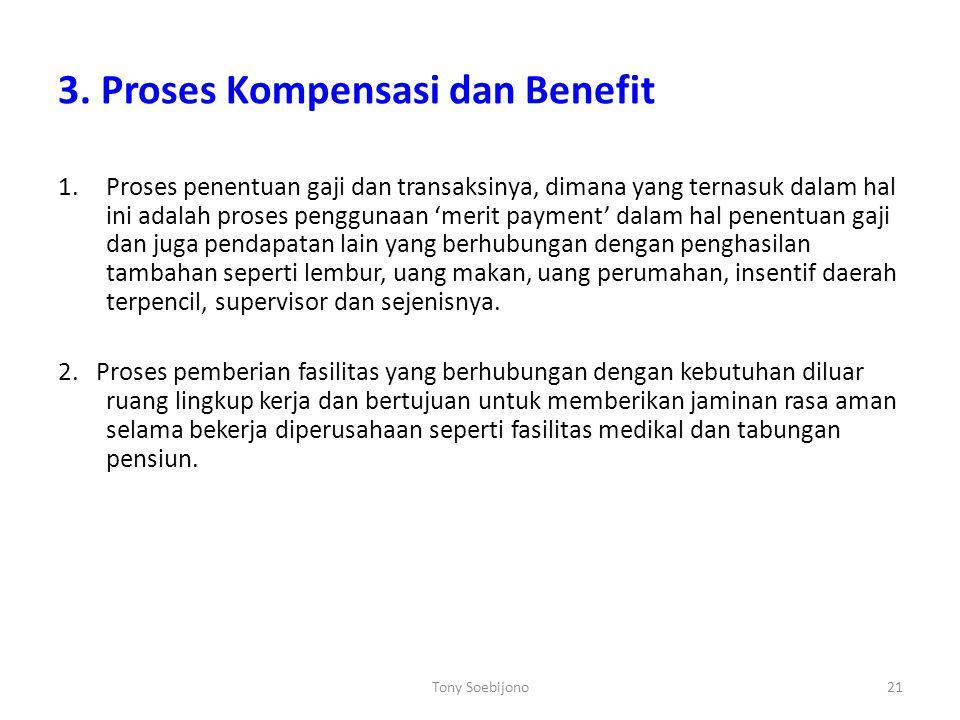 3. Proses Kompensasi dan Benefit