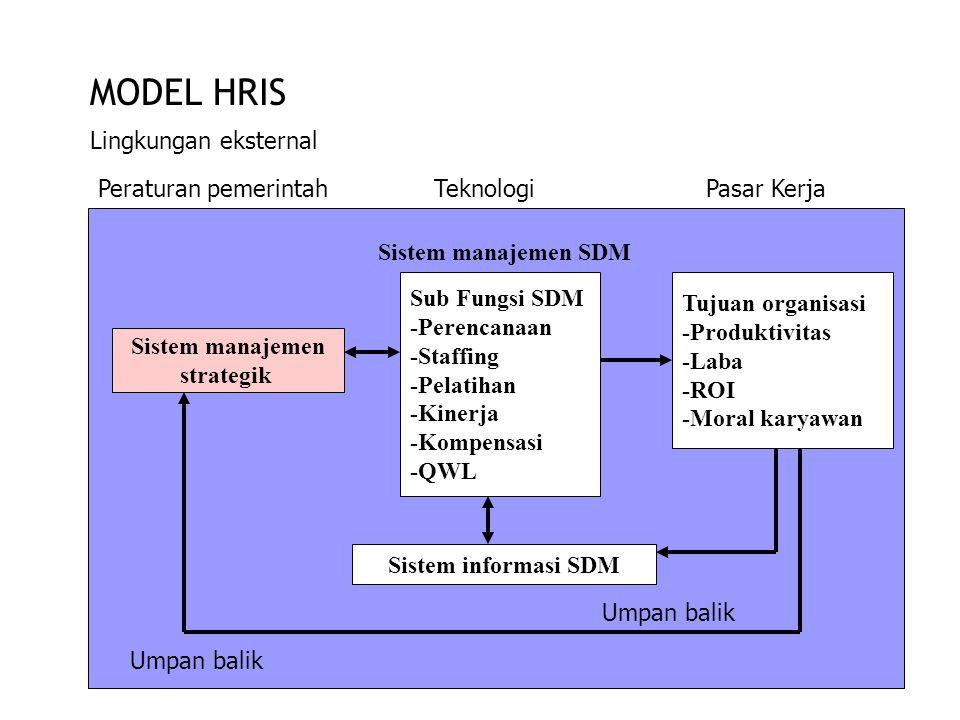 MODEL HRIS Lingkungan eksternal Peraturan pemerintah Teknologi