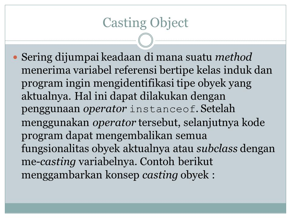Casting Object