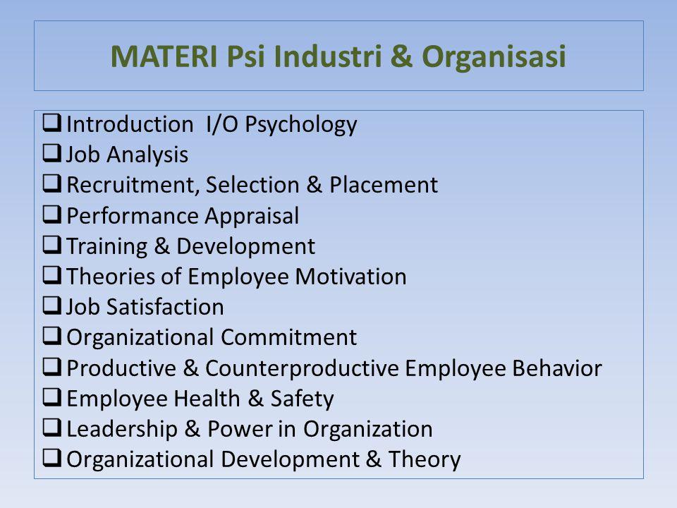 MATERI Psi Industri & Organisasi