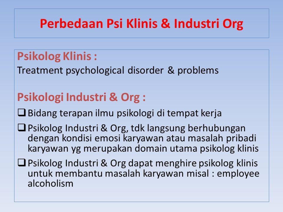 Perbedaan Psi Klinis & Industri Org