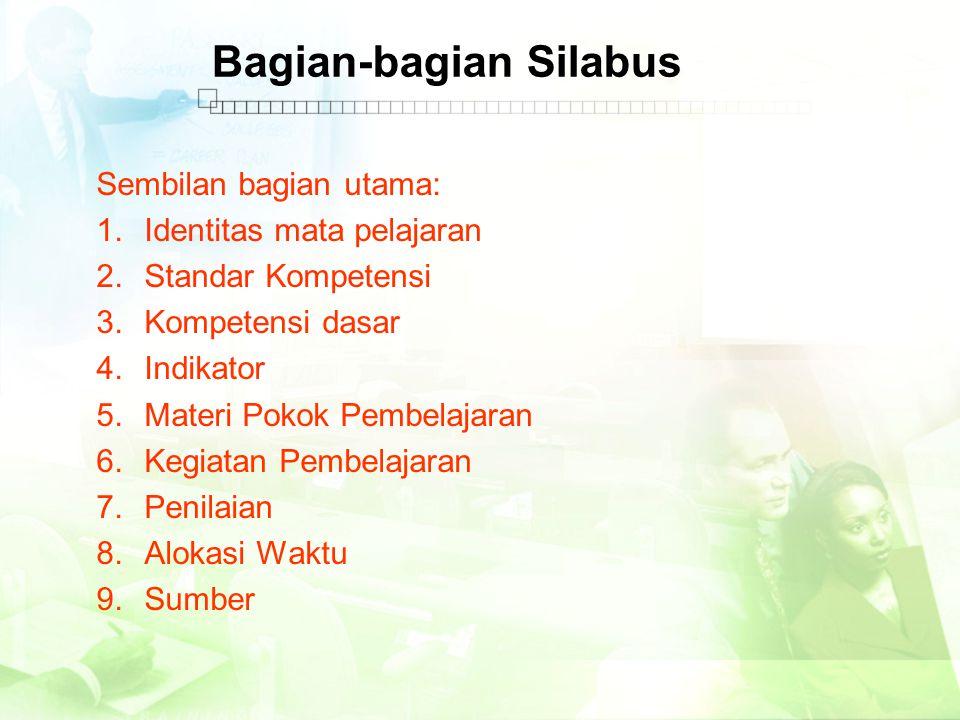 Bagian-bagian Silabus