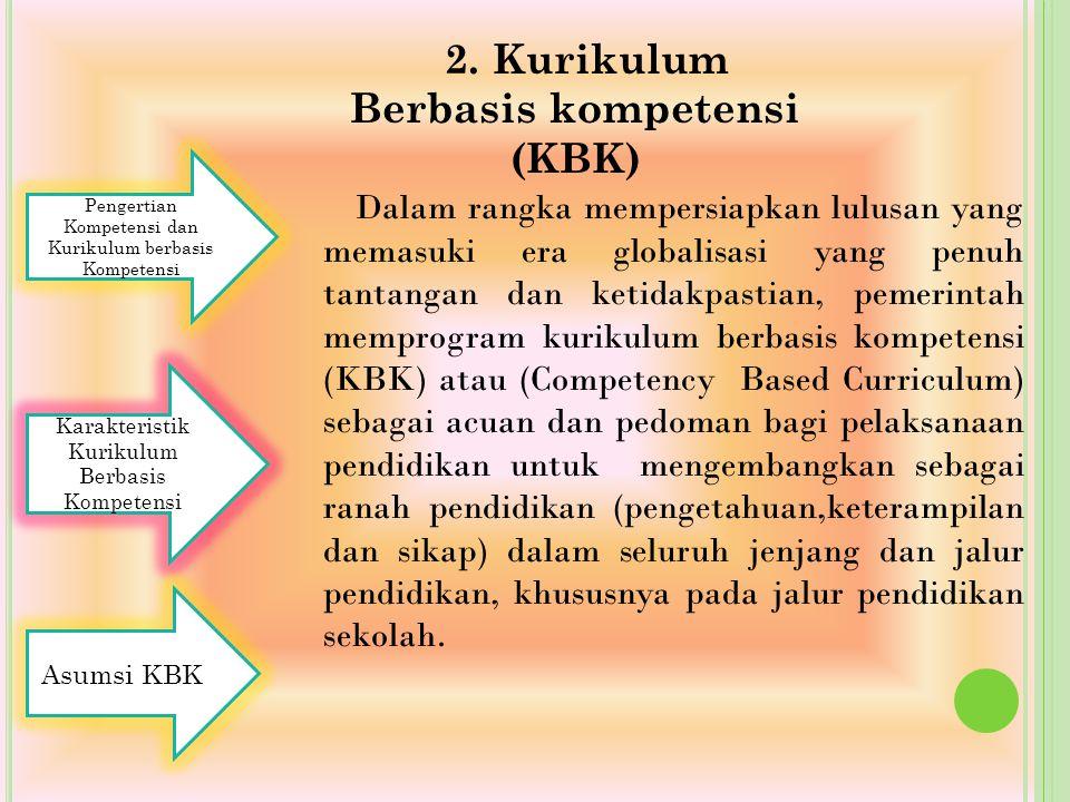 2. Kurikulum Berbasis kompetensi (KBK)